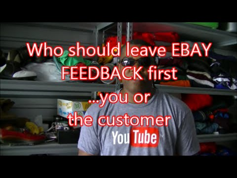 WHO LEAVES EBAY FEEDBACK FIRST / How to GET FEEDBACK from your EBAY CUSTOMERS / THANK YOU LETTER