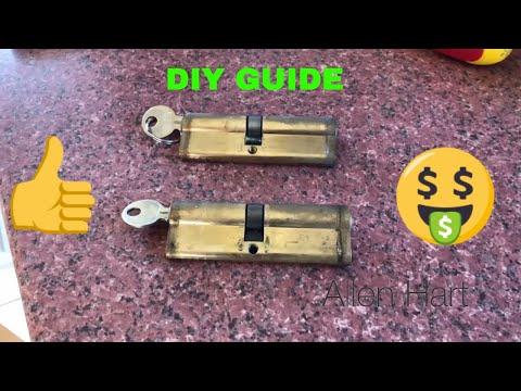 How To Replace Your Euro Door Cylinder UPVC  Composite Wood Doors DIY