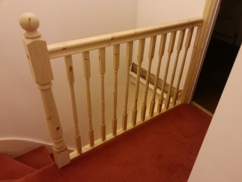 How to replace banister, newel post handrail and spindles on a staircase