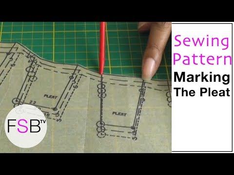 Sewing Pattern Symbols: Pleats