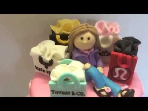 Designer Clothes Bags Birthday Cake