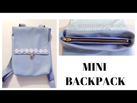 Fashion DIY 20 | Mini Backpack with Zipper and Flap