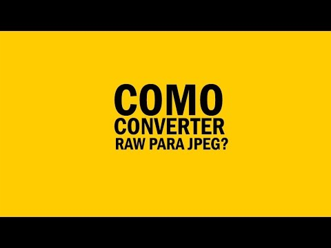 Como converter RAW para JPEG no Photoshop