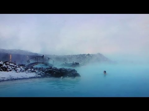 Blue Lagoon Iceland on a winterday