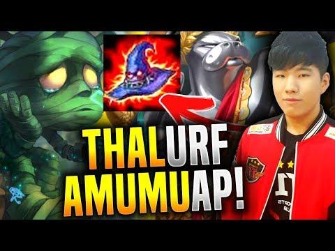SKT T1 Thal Insane URF AP Amumu! - Thal Plays AP Amumu in ARURF! | SKT T1 Replays