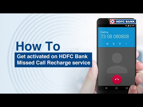 Get activated on HDFC Bank Missed Call Recharge service for HDFC Bank Customer's own mobile number?