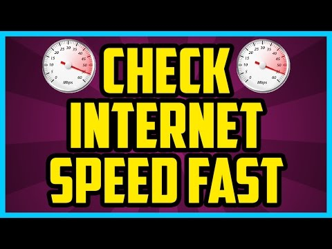 HOW TO CHECK YOUR INTERNET SPEED ON YOUR COMPUTER 2017 - How To Test Your Internet Speed Tutorial