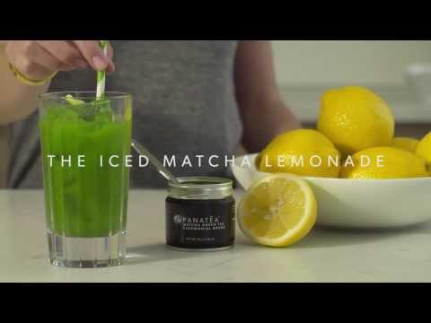Iced Matcha Lemonade DIY by PANATEA