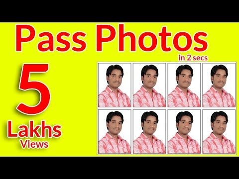 How To Make Passport Photos in easy way using photoshop in telugu
