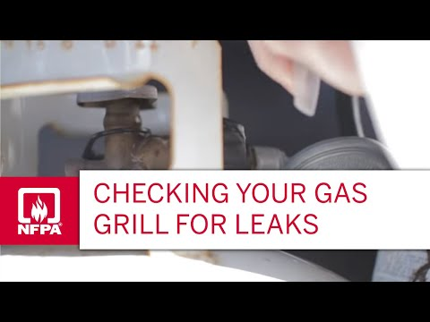 A simple test for checking gas grill leaks