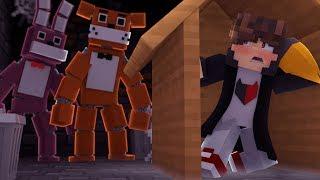 Minecraft: DESAFIO DA BASE 100% SEGURA CONTRA ANIMATRONICS FIVE NIGHTS AT FREDDY
