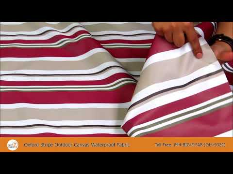 Oxford Stripe Outdoor Waterproof Fabric
