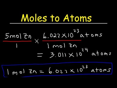 Moles to Atoms & Atoms to Moles Conversion Chemistry Examples & Practice Problems, Stoichiometry