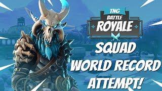 45 kills squads squad world record atte 6 months ago - world record fortnite kills squad