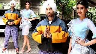 Gorgeous Kriti Sanon With Co-Actor Diljit Dosanjh For Promotions Of Their Next Film Arjun Patiala