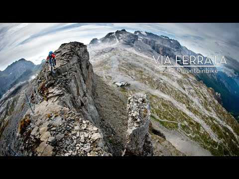 Mountain Biking an Insane Climbing Route | Via Ferrata