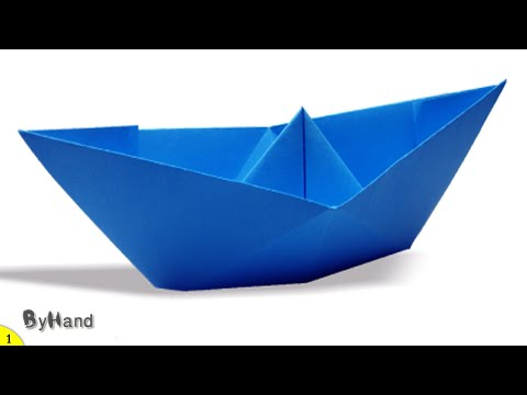 How to make ORIGAMI BOAT THAT FLOAT