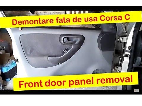 Demontare fata de usa Corsa C -- Front door panel removal