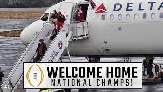 Alabama returns to Tuscaloosa airport after national championship win