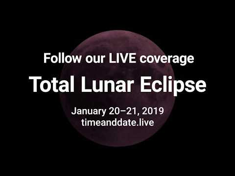 Watch the full moon turn red – January 20-21, 2019