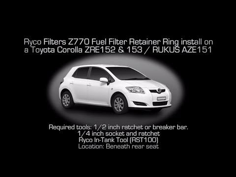 Ryco Filter Z770 fuel filter module retainer ring fitment video