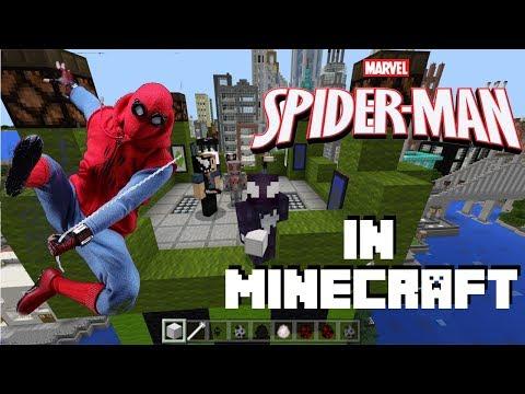 Spider-Man in Minecraft - Spider-Man Add-On for Minecraft Bedrock