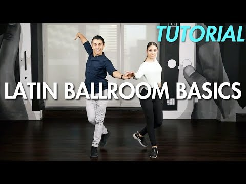 Basic Latin Ballroom Steps with Partnering (Ballroom Dance Moves Tutorial) | MihranTV