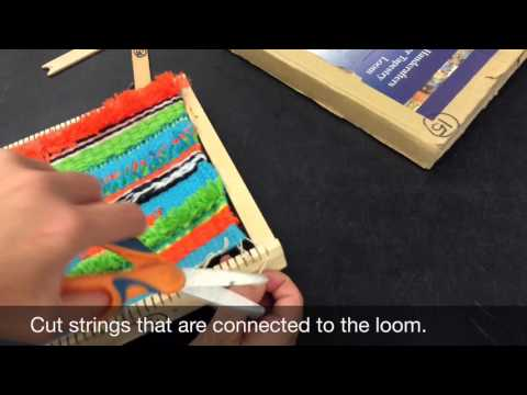 Taking your weaving off the loom