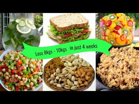 Full day Diet Plan for Weight loss 8kgs   10kgs in 4 weeks || Diet Chart for Weight loss