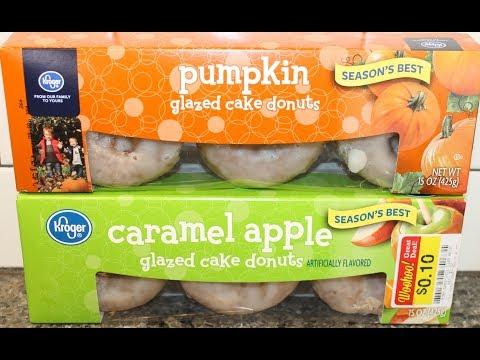 Kroger Glazed Cake Donuts: Pumpkin & Caramel Apple Review