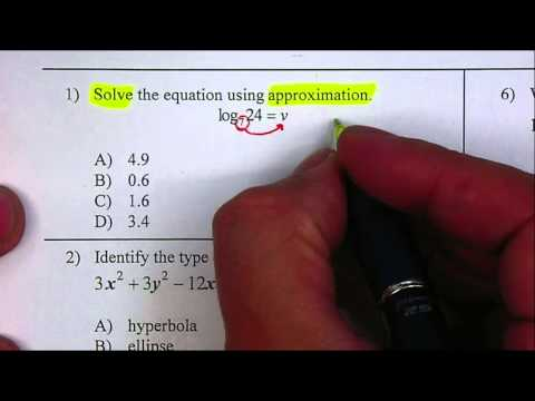 Solve Log Equations by Approximation P1