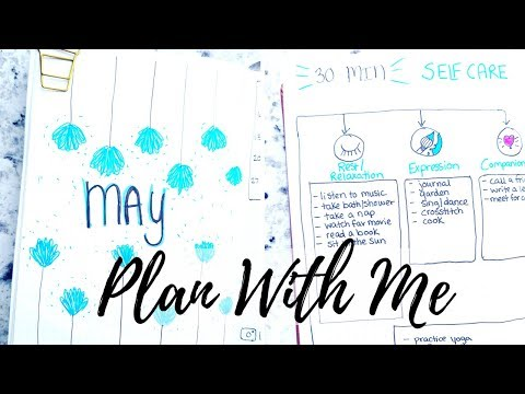 PLAN WITH ME | May 2018 Minimalist Bullet Journal Setup