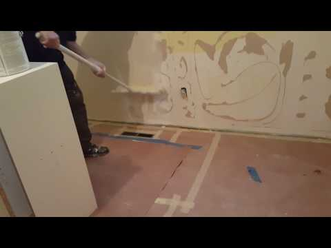 Skimming walls with paint roller 2