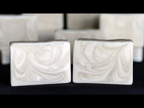 Ghost Swirl Soap - Homemade Soap - Cold Process Soap