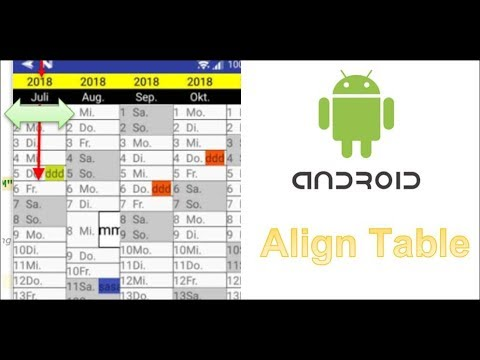 Android: Align Table Center programmatically