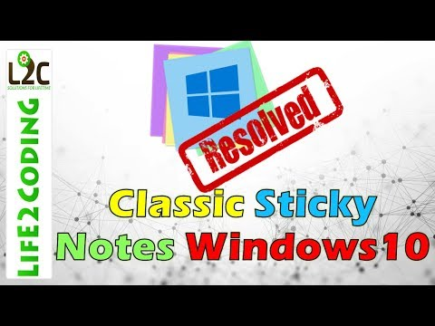 Bring Back Classic Sticky Notes on Windows 10
