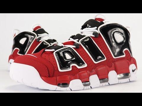 df8ed4f36da4 Nike Air More Uptempo Pippen Black   White On Feet Review - White ...