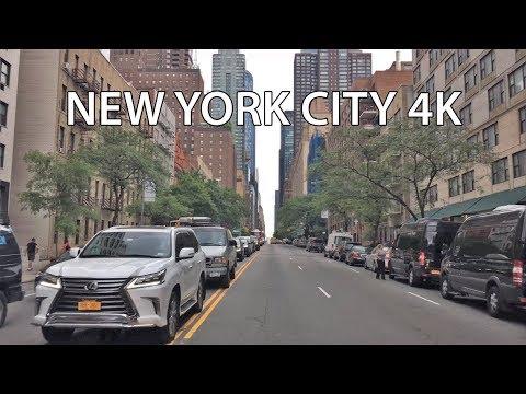 Driving Downtown 4K -  NYC's Billionaires' Row - New York City USA