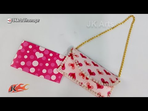 How to Make Purse Envelope Card | DIY card for Mother's Day | JK Arts 1214
