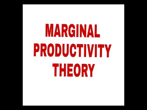 MARGINAL PRODUCTIVITY THEORY AND IT'S ASSUMPTIONS