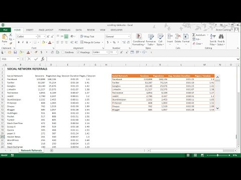 How to Create a Scrolling Table in Excel