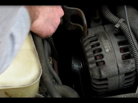 How to replace the serpentine belt on a GM 2.4L Grand Am, Skylark, Achieva