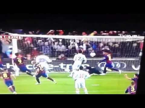 Barcelona VS Atletico de Madrid = 1 a 0  COPA DEL REY 01 / 21 / 2015