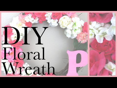 DIY Floral Wreath | Perfect for Spring & Valentine's Day!