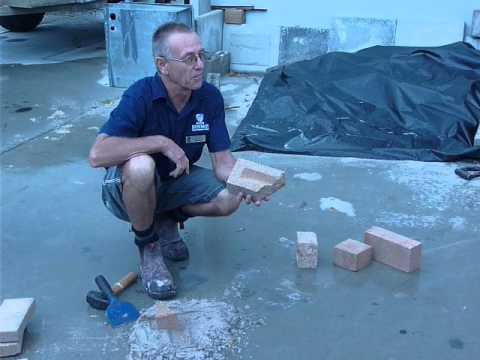 How to use a club hammer and brick bolster to split bricks