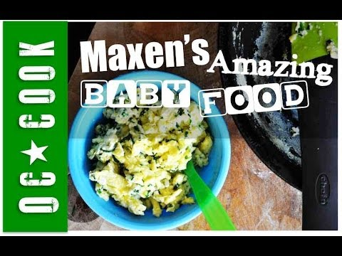 Baby Food, Spinach Scrambled Egg Recipe - ORANGE COUNTY COOK - Maxens Amazing Baby Food