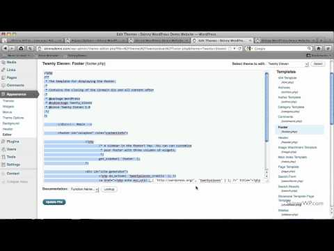 Adding a Copyright Notice to your WordPress Website