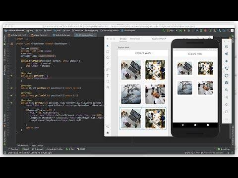 GridView Tutorial - Android Studio Adobe XD UI Design