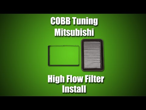 COBB Mitsubishi Evo X High Flow Filter Install Video