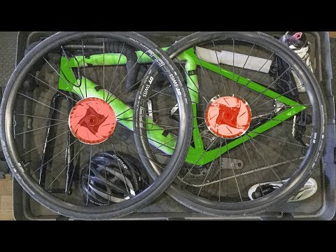 Pack Your Bike with Disk Brakes Safely in a Hard-shell Box for Airline Travel-Updated